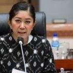 Meutya Viada Hafid usai Uji Kelayakan dan Kepatutan LPP RRI Periode 2021-2026