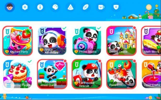 games baby panda di huawei matepad t10 kids edition