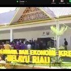 daring peresmian gerai sentra budaya dan ekonomi kreatif Melayu Riau